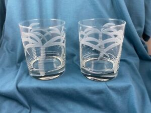 ROLF 14 oz. PALM TREE DOUBLE OLD FASHION GLASSES $18.00