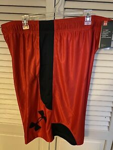 NEW UNDER ARMOUR SHORTS Men Size XXL *Red Black $21.00