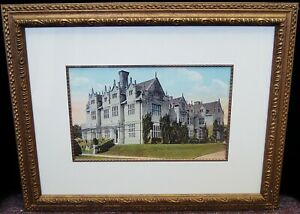 Unsigned quot;Victorian Mansionquot; Vintage Lithograph Print Framed 21x27quot; B4420 $29.95