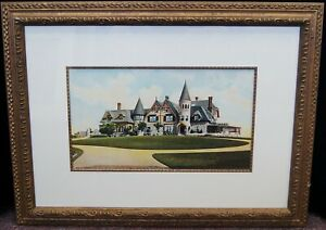 Unsigned quot;Summer Homequot; Vintage Lithograph Print Framed 21x28quot; B4422 $29.95