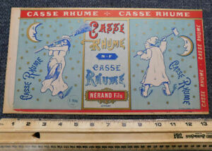 6 Vintage French candy labels ...Large about 7.75quot; x 13.5quot;..Casse Rhume $17.99