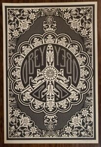 OBEY Peace Bomber Plane Lithograph Print Rare amp; Sold Out Signed Shepard Fairey $225.00