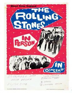 ROLLING STONES quot;11x14quot; POSTER HARA ARENA 1960#x27;s TOUR POSTER $1.99