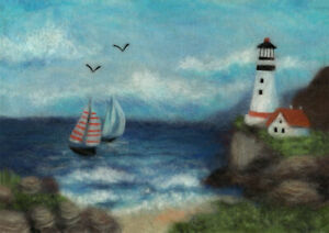 quot;Seascapequot; Painting with wool kit WA 0189 $24.66