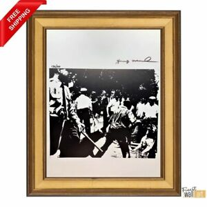 Birmingham Race Riot by Andy Warhol Original Hand Signed Print with COA $99.00