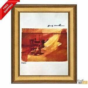 Electric Chair by Andy Warhol Hand Signed Original Print with COA $99.00