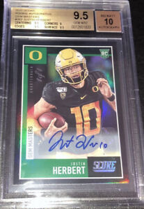 2020 Mosaic Football Mystery Pack Justin Herbert 1 1 True Auto? Read Description