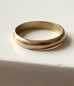 Antique Victorian 10k Yellow Gold Baby Infant Band Ring $75.00