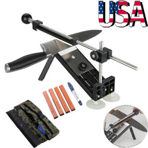 Professional Fix angle Kitchen Knife Sharpener System With 4 Sharpening Stones $26.50