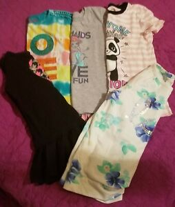 Lot 5 Girls Tops Size 6 and 6X shirts Fall Winter clothing kids clothes cheap