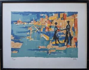 Orthodox Jews Lithograph signed in pencil Artist Gut ? $75.00