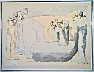 Listed Artist Josep Pla Narbona b. 1928 Signed Lithograph Titled Act VI $295.00