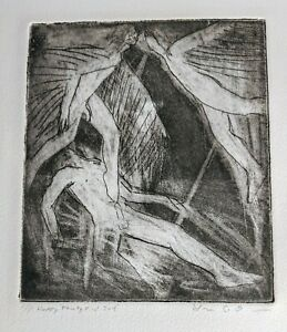 Lovers Male Nudes Lithograph Gay Interest Matted signed deticated A P $55.00