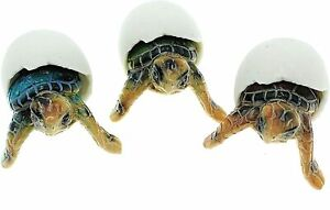 Globe Imports Baby Sea Turtles Hatching from Eggs Mini Figurines BEACH Set of 3 $19.95