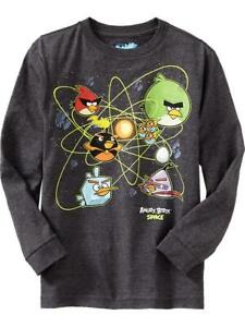 NWT Old Navy Boys Angry Birds Space Game Graphic Tees T Shirt Shirt NEW Boys M 8 $12.95