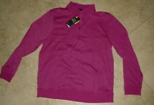 New w Tag Rose Purple Under Armour Storm Cold Gear Zip Neck Pullover Mens XL $36.00