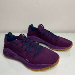 Under Armour Mens Curry 4 Basketball Shoes Purple 3000083 500 2017 10.5 M New $106.99