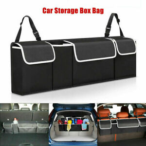 Car Trunk Organizer Oxford Interior Accessories Back Seat Storage Bag 4 Pocket