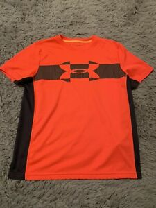 Boys Under Armour Youth Large Loose Fit Heat Gear Shirt $7.99