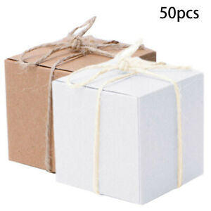 Candy Boxes Festival Square Gift Kraft Paper Xmas Decor Decoration Sweet C $21.58