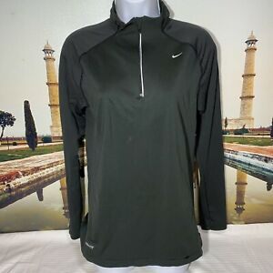 NIKE FIT Womens Running 1 4 Zip Pullover Jacket Black Size Large $18.99