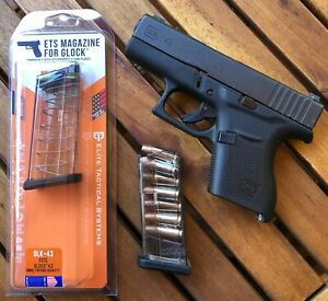 ETS 7 Round Flush Fit Mag For Glock 43 100% Reliability $18.99