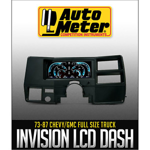AutoMeter Direct Fit LCD Digital Dash Kit InVision For 1973 1987 GM Trucks SUVs $999.00