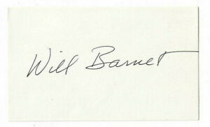 Will Barnett Signed Index Card Artist Autographed $14.99