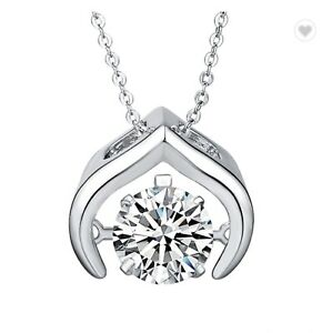 1 Ct Dancing Round Diamond Pendant Necklace with Chain