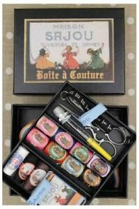 Sajou Sewing Set Complete Deluxe Black Box France $96.99