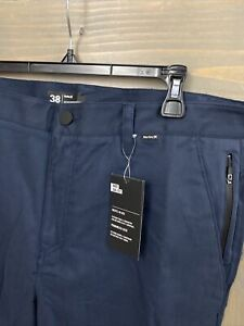 NWT NEW Hurley Nike Dri Fit Worker Mens Pants $70 Navy Size 38 X 32 $23.99