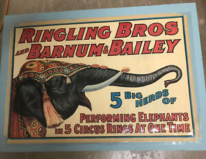 Ringling Brothers Barnum Bailey Circus Elephant Vintage Poster 1930 1940 P 155 $68.80