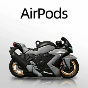 For Apple Airpods 1 2 Pro 3D Racing Motorcycle Silicone Shockproof Case Cover $8.59
