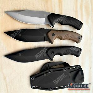 9quot; FULL TANG FIXED BLADE KNIFE w Kydex Sheath Hunting Knife Camping Knife
