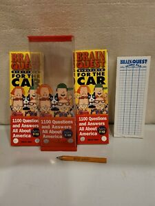 Brain Quest Extra For The Car Deck 1 Deck 2 All About America Complete