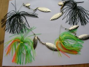 Spinner baits lot 4 pack select size 3 8oz or 1 4oz Bass fishing