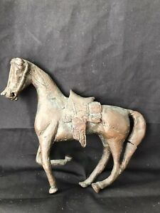 """Solid Copper Bronze Horse Statue 4.5""""Tall 6.5"""" Long. Vintage. $165.00"""