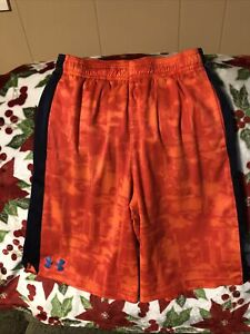 Under Armour Shorts Youth Large Basketball Active OrangeBlueBlack. Loose Fit $7.99