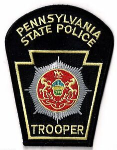 PENNSYLVANIA STATE POLICE TROOPER SHOULDER PATCH IRON OR SEW ON PATCH $7.00
