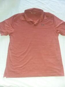 Under Armour XL Loose Heat Gear Polo Shirt Red $18.00