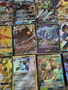Pokemon Card Lot 100 OFFICIAL TCG Cards Ultra Rare Included GX EX MEGA HOLOS $19.49