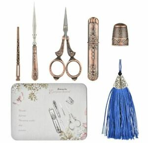 Embroidery Scissor Sewing Kit Vintage antique style gift set Gift for mom her AU $51.99