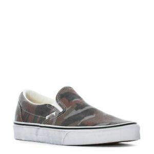 VANS CLASSIC SLIP ON WASHED SKATEBOARD TRAINER MEN SHOES CAMOUFLAGE SIZE 9.5 NEW