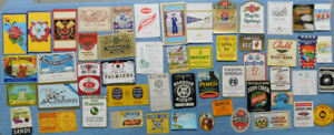 Lot Of 50 Different Vintage Small Advertising Labels...Lot # 28