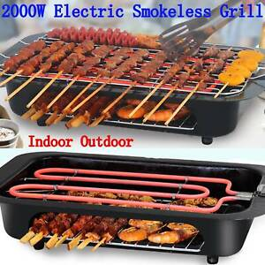 BBQ Portable Indoor Electric Grill Griddle Non Stick Barbecue Smokeless Cooking