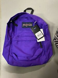 Jansport Classic Superbreak Bright Signature Purple Backpack NWT $17.20