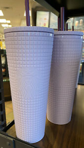 Starbucks Siren Lilac Lavender Purple Studded Diamond Grid Cold Cup Tumbler $37.00