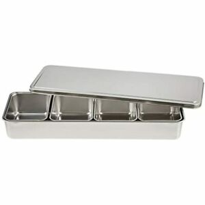 Stainless Yakumi Pan Seasoning Container W 4 Compartments Home amp Kitchen