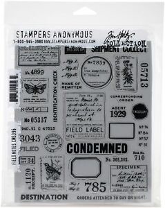 Tim Holtz Cling Stamps 7quot;X8.5quot; Field Notes