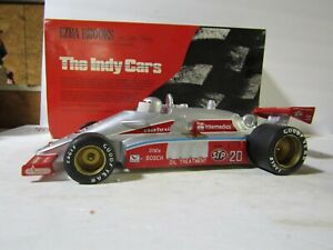 RARE Ezra Brooks #20 Silver Indy 500 STP Race Car Decanter #17 of Only 50 Made